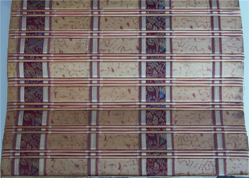 High Grade Printed Bamboo Blinds , Bamboo Door Curtains Corrosion Resistant