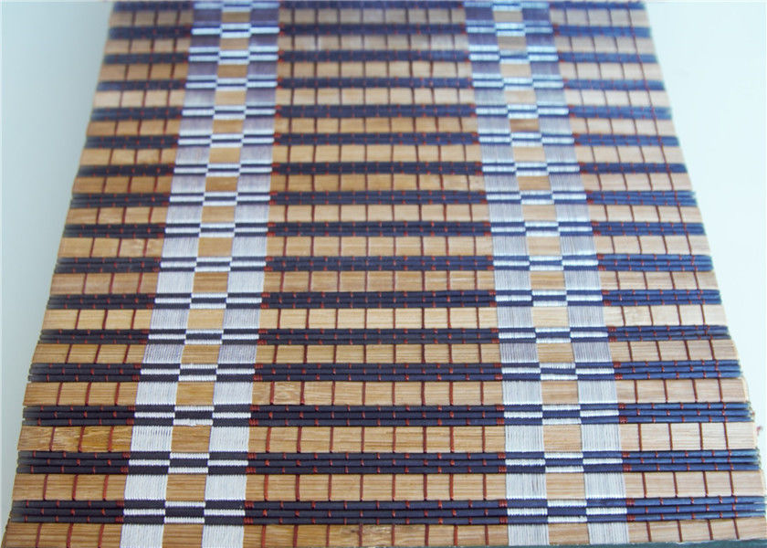 Waterproof Bamboo Roller Window Shades Weaving With Raffia Custom Color